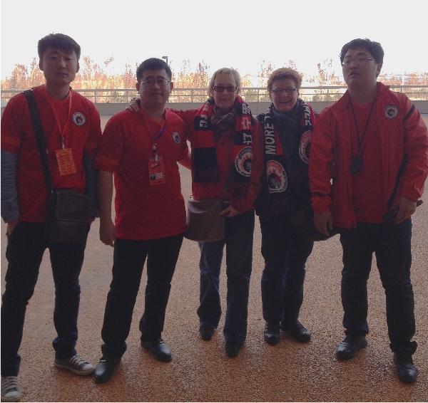 Chinesische Fans unter sich.